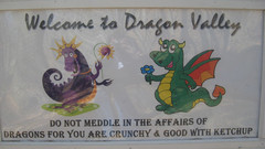 Welcome Sign to Dragon Valley